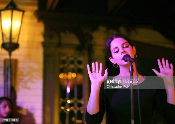 Singersongwriter Lana Del Rey performs for a Spotify event of her new album Lust For Life at No Vacancy on July 20 2017 in Los Angeles California