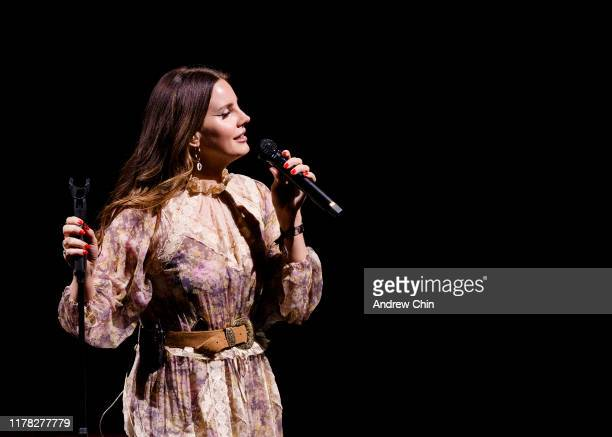 Singer-songwriter Lana Del Rey performs on stage at Rogers Arena on September 30, 2019 in Vancouver, Canada.