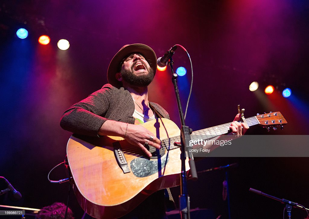 Singer-songwriter Langhorne Slim performs at The Egyptian Room at Old National Centre on January 12, 2013 in Indianapolis, Indiana.