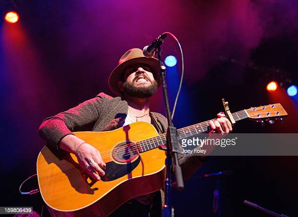 Singersongwriter Langhorne Slim performs at The Egyptian Room at Old National Centre on January 12 2013 in Indianapolis Indiana