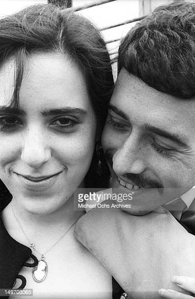 Singer/songwriter Laura Nyro and manager and partner David Geffen pose for a portrait session on September 13 1969 in New York New York