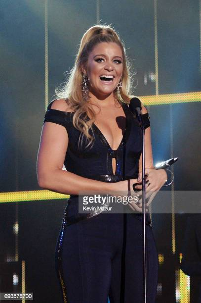 Singersongwriter Lauren Alaina accepts an award onstage at the 2017 CMT Music Awards at the Music City Center on June 7 2017 in Nashville Tennessee