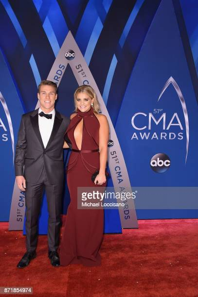 Singersongwriter Lauren Alaina and Alex Hopkins attend the 51st annual CMA Awards at the Bridgestone Arena on November 8 2017 in Nashville Tennessee