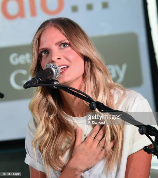 Singer/Songwriter Lauren Duski performs Change the Conversation Slacker Radio #WCE Country Launch Party at The Steps at WME on August 7 2018 in...