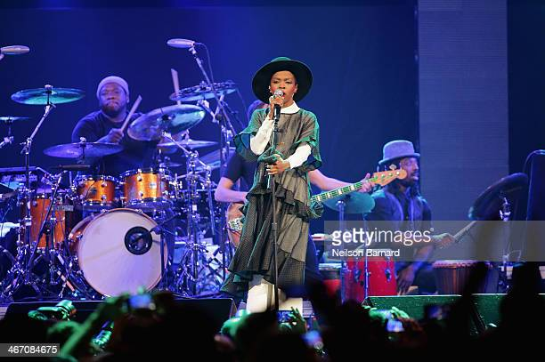 Singer/songwriter Lauryn Hill performs onstage at the Amnesty International Concert presented by the CBGB Festival at Barclays Center on February 5...