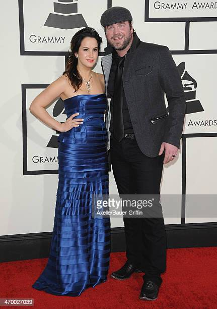 Singersongwriter Lee Brice and Sarah Reevely arrive at the 56th GRAMMY Awards at Staples Center on January 26 2014 in Los Angeles California