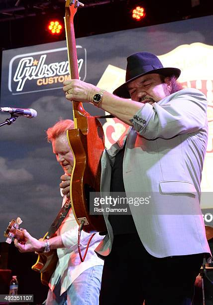 Singer/Songwriter Lee Roy Parnell and Recording Artist Gary Rossington of Lynyrd Skynyrd perform during the Gibson Custom Southern Rock tribute 1959...
