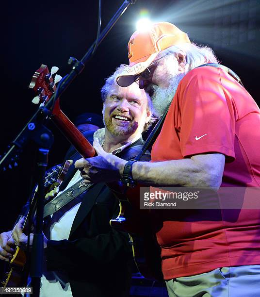 Singer/Songwriter Lee Roy Parnell and Singer/Songwriter Charlie Daniels perform during the Gibson Custom Southern Rock tribute 1959 Les Paul guitar...