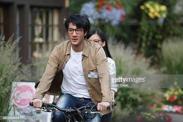 Singersongwriter Leehom Wang attends the Allen Company Sun Valley Conference on July 9 2015 in Sun Valley Idaho Many of the worlds wealthiest and...