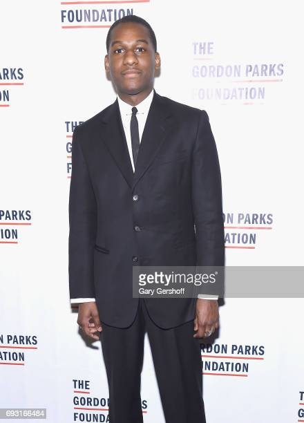 Singer'songwriter Leon Bridges attend the 2017 Gordon Parks Foundation Awards gala at Cipriani 42nd Street on June 6 2017 in New York City