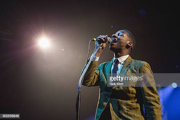 Singer-songwriter Leon Bridges performs in concert at ACL Live on December 8, 2015 in Austin, Texas.