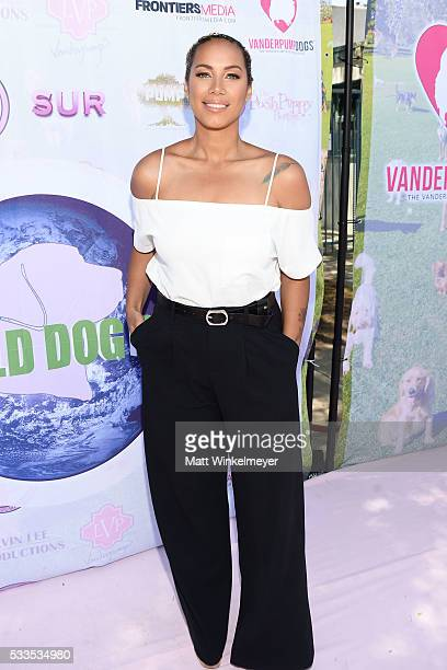 Singer-songwriter Leona Lewis attends the World Dog Day Celebration at The City of West Hollywood Park on May 22, 2016 in West Hollywood, California.
