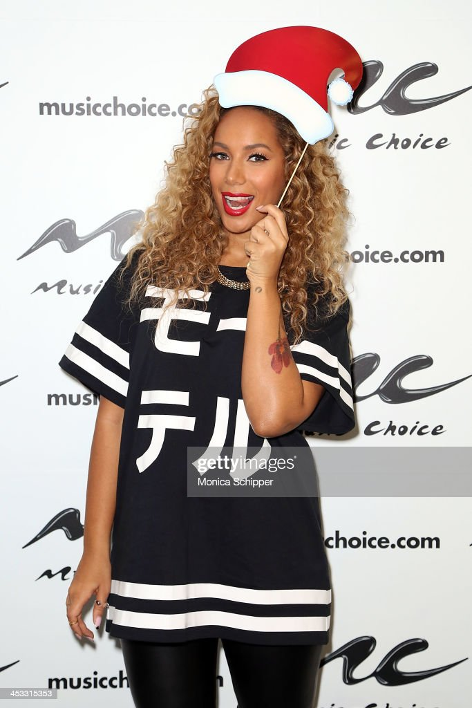 Singer-songwriter Leona Lewis visits Music Choice's 'You & A' at Music Choice on December 3, 2013 in New York City.