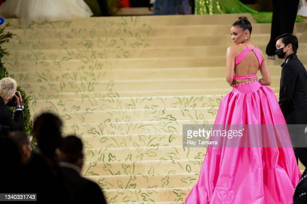 Singer-songwriter Leslie Grace attends the 2021 Met Gala Celebrating In America: A Lexicon Of Fashion at the Metropolitan Museum Of Art on September...
