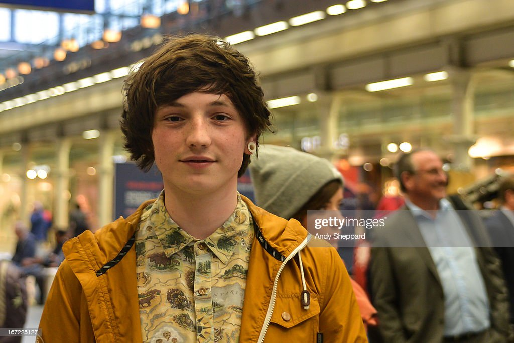 Singer-songwriter Lewis Watson posed backstage during Station Sessions Festival 2013 at St Pancras Station on April 22, 2013 in London, England.