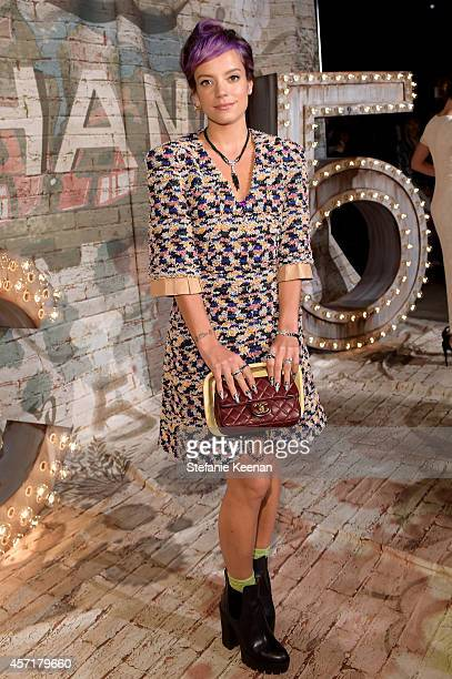 Singer-songwriter, Lily Allen attends the CHANEL Dinner Celebrating N°5 THE FILM by Baz Luhrmann on October 13, 2014 in New York City.