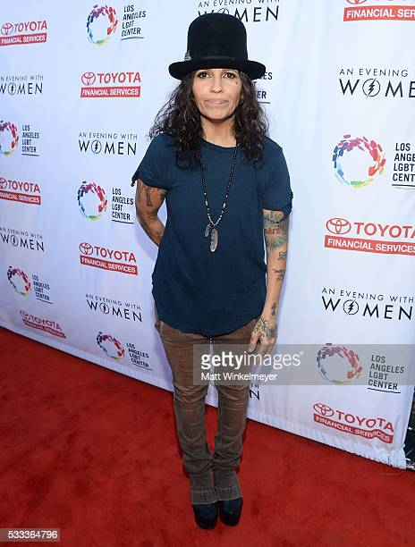 Singersongwriter Linda Perry attends An Evening with Women benefiting the Los Angeles LGBT Center at the Hollywood Palladium on May 21 2016 in Los...