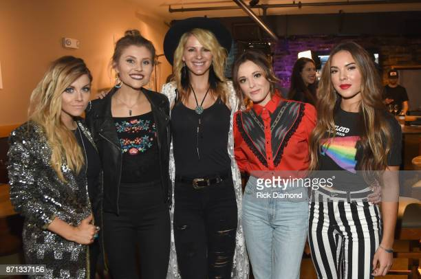 Singersongwriter Lindsay Ell Hannah Mulholland and Jennifer Wayne of Country Trio Runaway June singersongwriter Jillian Jacqueline Naomi Cooke of...