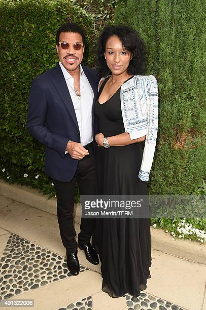Singer/songwriter Lionel Richie and Lisa Parigi attend The Rape Foundation's annual brunch at Greenacres The Private Estate of Ron Burkle on October...