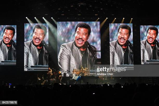 Singersongwriter Lionel Richie performs on stage at Rogers Arena on September 3 2017 in Vancouver Canada