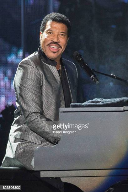 Singer/songwriter Lionel Richie performs on stage at Viejas Arena on July 27 2017 in San Diego California