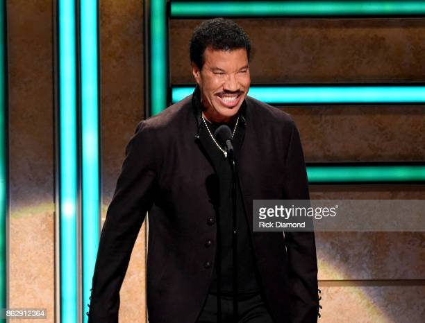 Singersongwriter Lionel Richie speaks onstage at the 2017 CMT Artists Of The Year on October 18 2017 in Nashville Tennessee