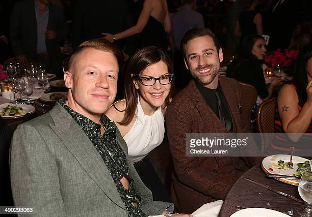 Singersongwriter Lisa Loeb with rappers Macklemore and Ryan Lewis attend the 2014 BMI Pop Awards at the Beverly Wilshire Four Seasons Hotel on May 13...