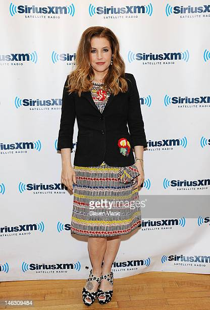 Singer/songwriter Lisa Marie Presley visits SiriusXM Studio on June 13 2012 in New York City