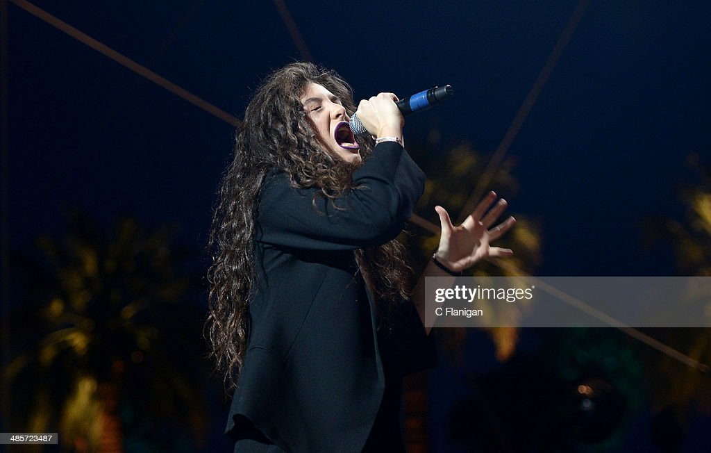Singer-songwriter Lorde aka Ella Marija Lani Yelich-O'Connor performs during the 2014 Coachella Valley Music And Arts Festival at The Empire Polo Club on April 19, 2014 in Indio, California.