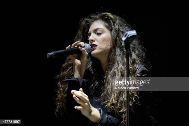 Singersongwriter Lorde performs on stage at Roseland Ballroom on March 10 2014 in New York City