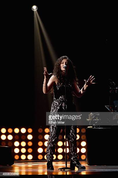 Singer/songwriter Lorde performs onstage during the 2014 iHeartRadio Music Festival at the MGM Grand Garden Arena on September 20, 2014 in Las Vegas,...