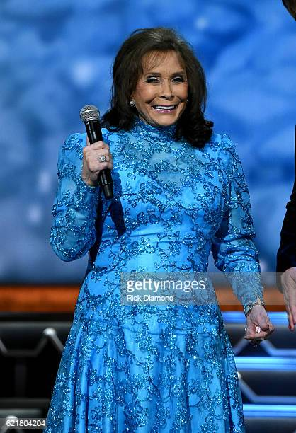 Singersongwriter Loretta Lynn performs on stage during the CMA 2016 Country Christmas on November 8 2016 in Nashville Tennessee