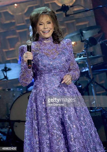 Singersongwriter Loretta Lynn performs onstage at the 13th annual Americana Music Association Honors and Awards Show at the Ryman Auditorium on...