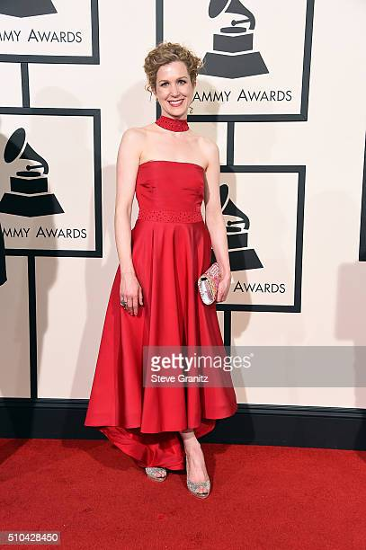 Singersongwriter Lori Henriques attends The 58th GRAMMY Awards at Staples Center on February 15 2016 in Los Angeles California