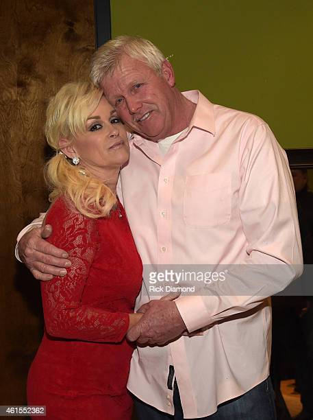 Singer/Songwriter Lorrie Morgan with Husband Randy White backstage at City Winery on January 14 2015 in Nashville Tennessee