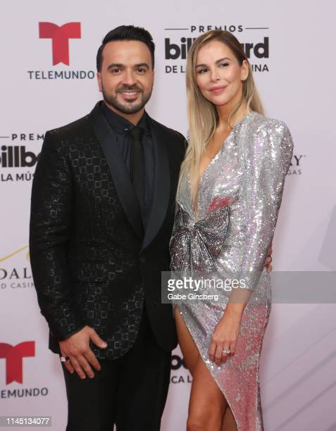 Singer/songwriter Luis Fonsi and his wife model Agueda Lopez attend the 2019 Billboard Latin Music Awards at the Mandalay Bay Events Center on April...