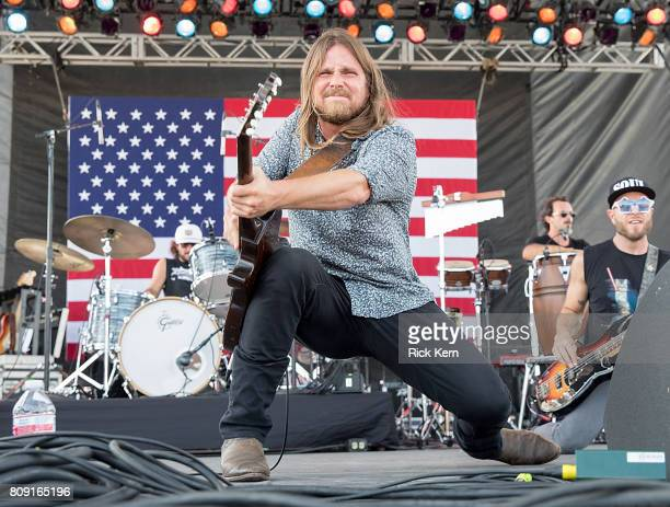 Singer-songwriter Lukas Nelson of Lukas Nelson & Promise of the Real performs onstage during the 44th Annual Willie Nelson 4th of July Picnic at...