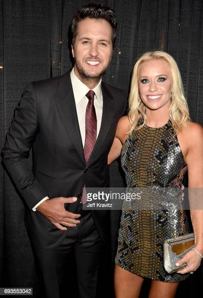 Singersongwriter Luke Bryan and Caroline Boyer attend the 2017 CMT Music Awards at the Music City Center on June 7 2017 in Nashville Tennessee