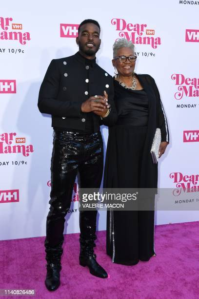 US singersongwriter Luke James and his mother arrive for VH1's Annual Mother's Day Celebration Dear Mama A Love Letter to Mom at The Theatre at Ace...