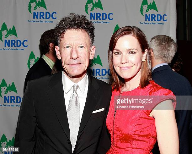 Singer/songwriter Lyle Lovett and fiancee April Kimble attend the 12th annual Forces for Nature gala benefit at Pier Sixty at Chelsea Piers on April...