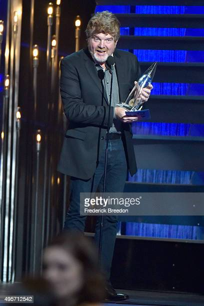 Singersongwriter Mac McAnally accepts the Musician of the Year award onstage at the 49th annual CMA Awards at the Bridgestone Arena on November 4...