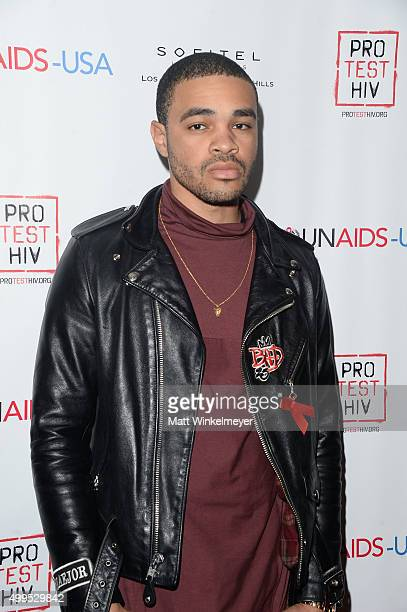 Singersongwriter Maejor Ali arrives at the Inaugural World AIDS Day Benefit at Sofitel Hotel on December 1 2015 in Los Angeles California