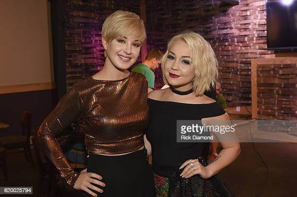 Singersongwriter Maggie Rose and Raelynn take a photo together before CMT's Next Women of Country on November 1 2016 in Nashville Tennessee