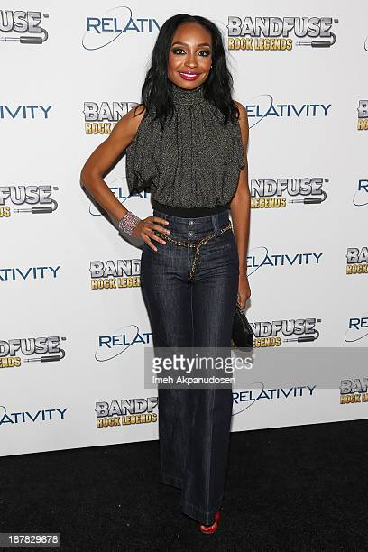 Singer/songwriter Malina Moye attends the BandFuse Rock Legends video game launch event at House of Blues Sunset Strip on November 12 2013 in West...