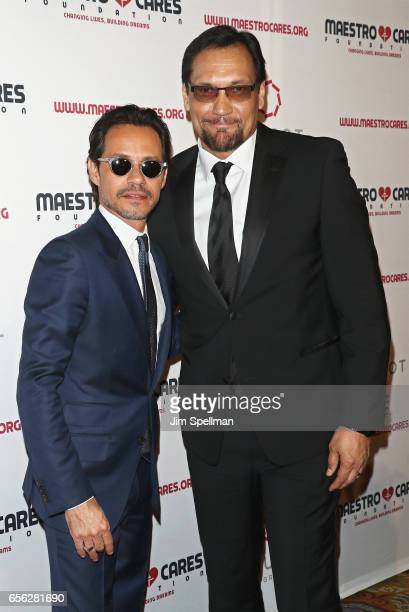 Singer/songwriter Marc Anthony and actor Jimmy Smits attend the Maestro Cares Foundation's Fourth Annual Changing Lives/Building Dreams Gala at...