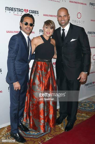 Singer/songwriter Marc Anthony Deidre Pujols baseball player Albert Pujols attend the Maestro Cares Foundation's Fourth Annual Changing...