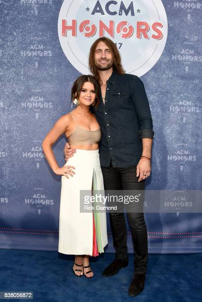 Singersongwriter Maren Morris and Ryan Hurd attend the 11th Annual ACM Honors at the Ryman Auditorium on August 23 2017 in Nashville Tennessee
