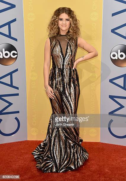 Singersongwriter Maren Morris attends the 50th annual CMA Awards at the Bridgestone Arena on November 2 2016 in Nashville Tennessee