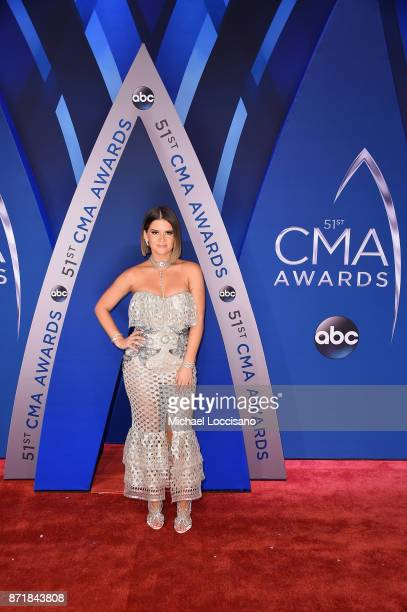 Singersongwriter Maren Morris attends the 51st annual CMA Awards at the Bridgestone Arena on November 8 2017 in Nashville Tennessee