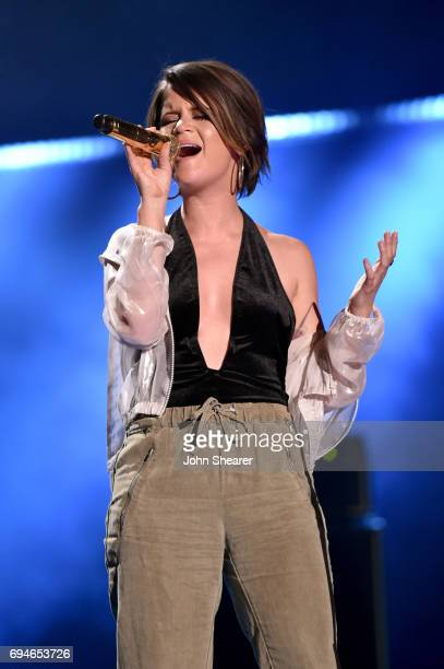 Singer-songwriter Maren Morris performs onstage of day 3 at the 2017 CMA Music Festival on June 10, 2017 in Nashville, Tennessee.